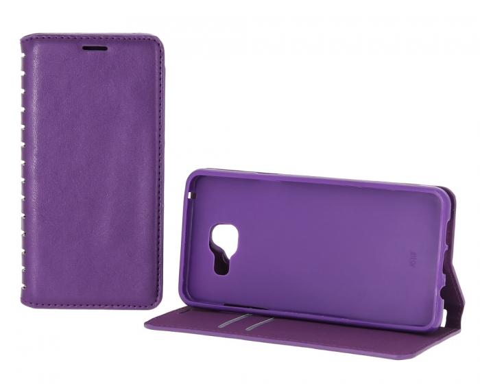 New-Case для Samsung Galaxy A3 (2016) с визитницей фиолетовый