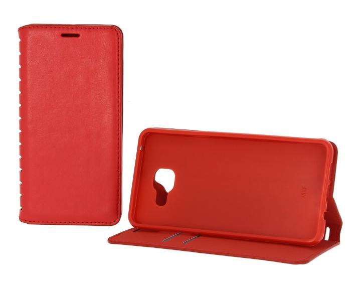 Case-New Book Case New для Samsung Galaxy J7 с визитницей красный