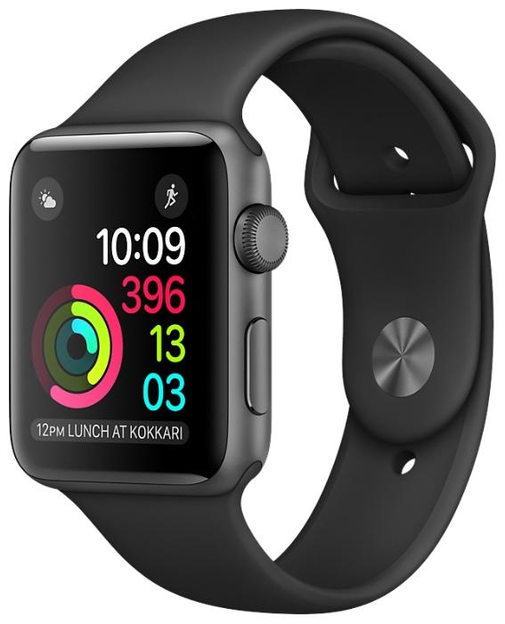 Умные часы apple Watch Series 1 42 mm, серо-черные MP032RU/A
