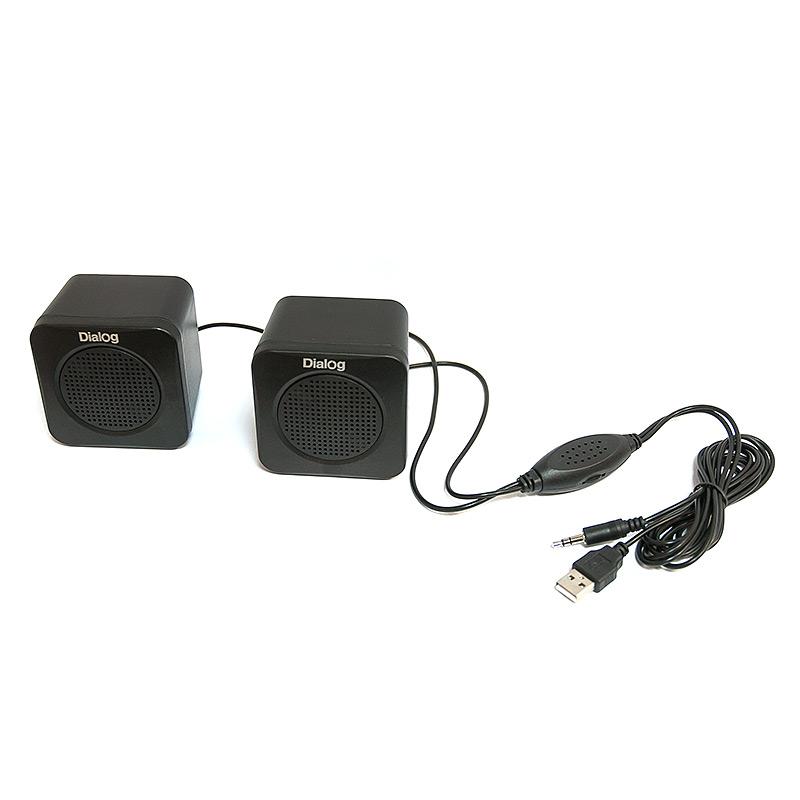 Компьютерная акустика Dialog AC-01U черная AC-01UP