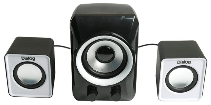 Компьютерная акустика Dialog AC-202UP черно-белая COLIBRI AC-202UP