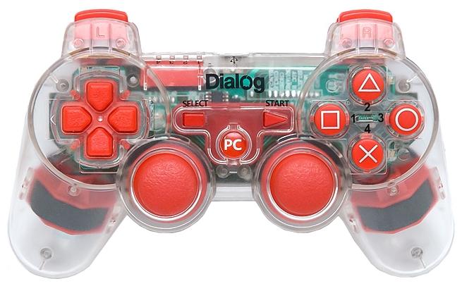 Геймпад Dialog GP-A17EL красный