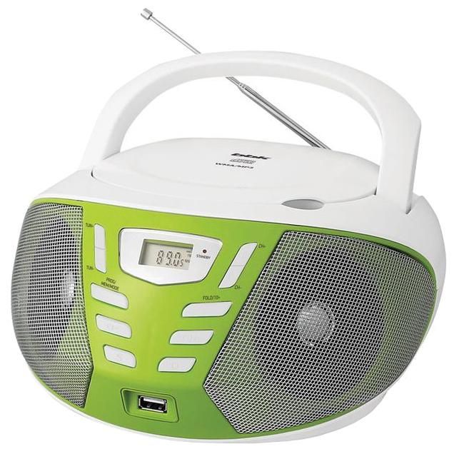 Магнитола BBK BX193U, бело-зеленая
