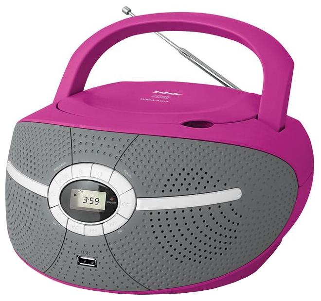 Магнитола BBK BX195U, розовая