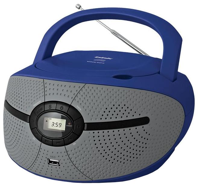 Магнитола BBK BX195U, голубая/серая