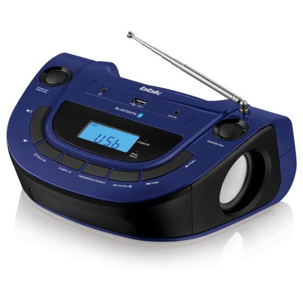 Магнитола BBK BS07BT, темно-синяя