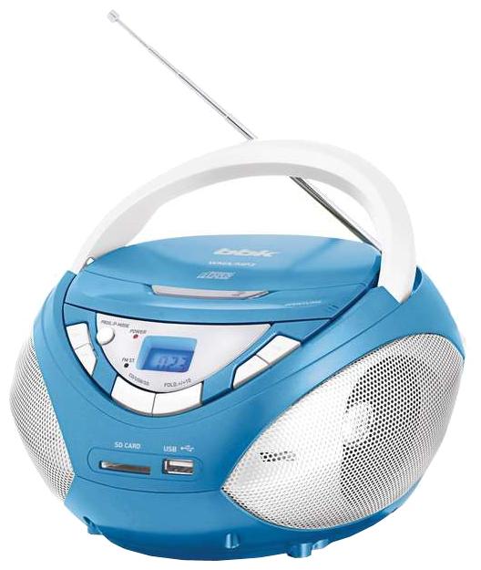 Магнитола BBK BX108U, голубая/металлик
