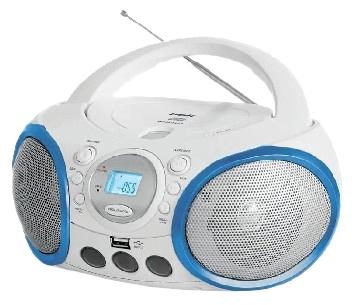 Магнитола BBK BX150U, бело-голубая