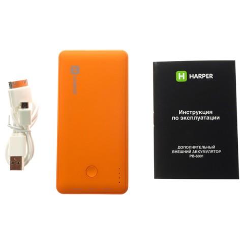 Аксессуар для телефона HARPER Внешний аккумулятор PB-6001 (6000 mAh), оранжевый PB-6001 Orange