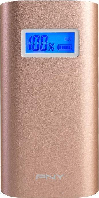 Аксессуар для телефона PNY Внешний аккумулятор PowerPack AD5200 (5200 мАч), розово-золотистый P-B5200-4GP01-RB