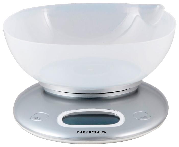 Кухонные весы SUPRA BSS-4022, серебристые