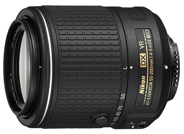 Объектив для фото Nikon 55-200mm f/4-5.6G AF-S DX ED VR II Nikkor (телеобъектив) JAA823DA