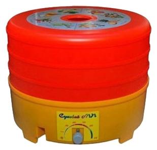 Сушилка для овощей и фруктов Agroplast Агропласт Суховей МП 3 (3 лотка, оранжевая)