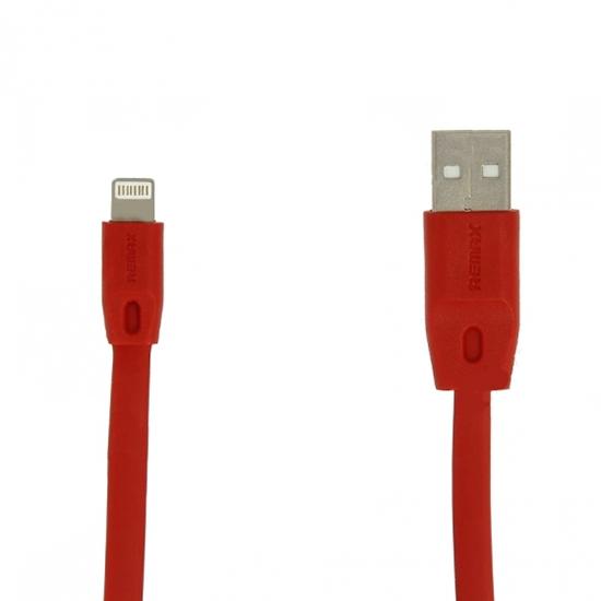 Кабель / переходник Remax Full Speed Fast Charging Lightning-USB (M-M, плоский, 1 м), красный UPG1045930