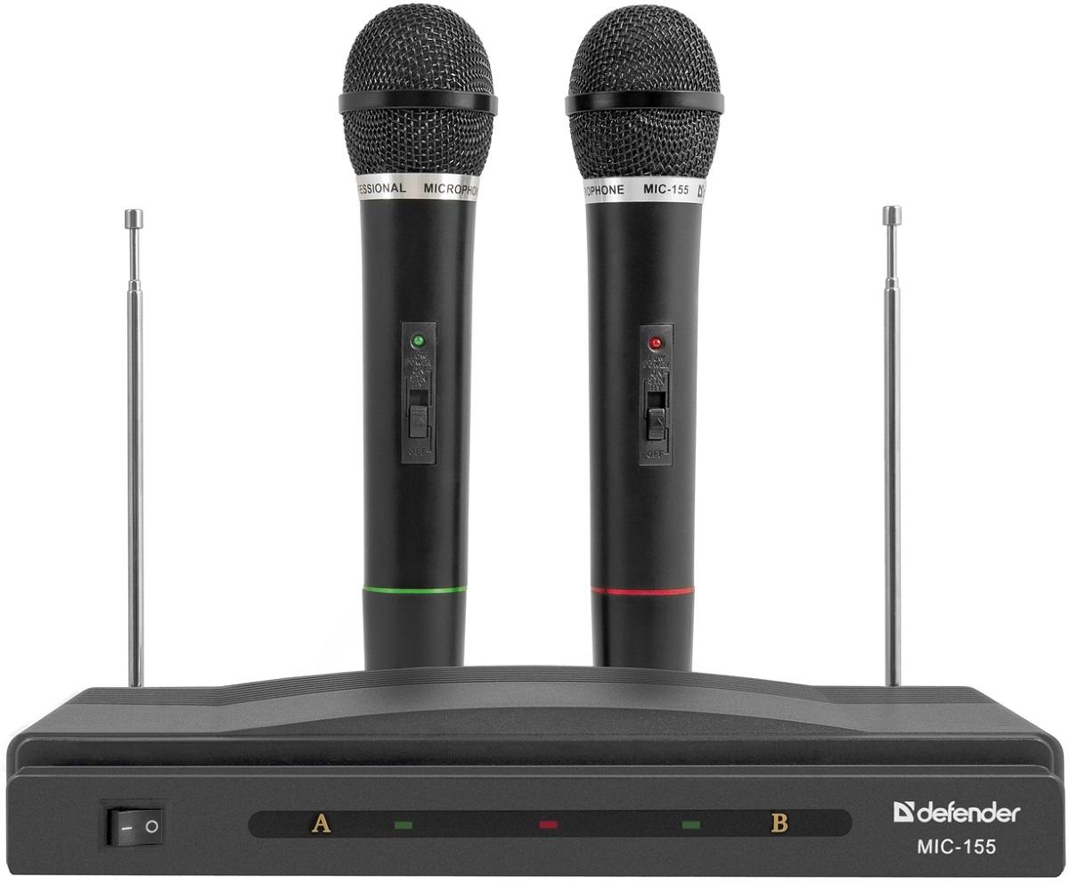 Микрофон мультимедийный Defender SET MIC-155, черный 64155