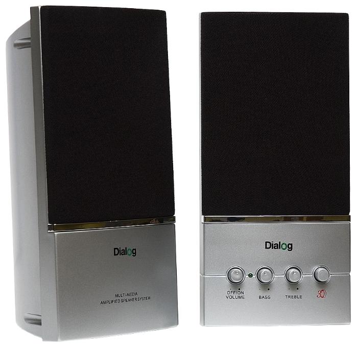 Компьютерная акустика Dialog AM-13S серебреная Melody AM-13S