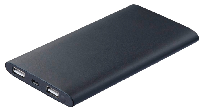 Аксессуар для телефона HAMA Мобильный аккумулятор Premium Alu 8000 mAh, черный 173735