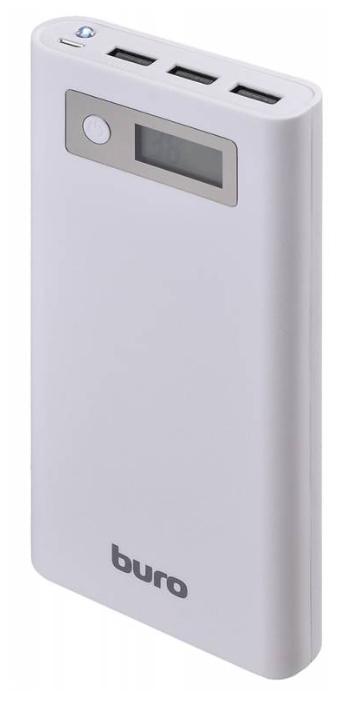 BURO Мобильный аккумулятор RA-16000-3U-LCD (16000 mAh), белый