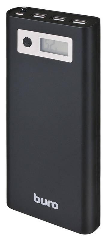 Аксессуар для телефона BURO Мобильный аккумулятор RA-16000-3U-LCD (16000 mAh), черный RA-16000-3U-LCD-BK