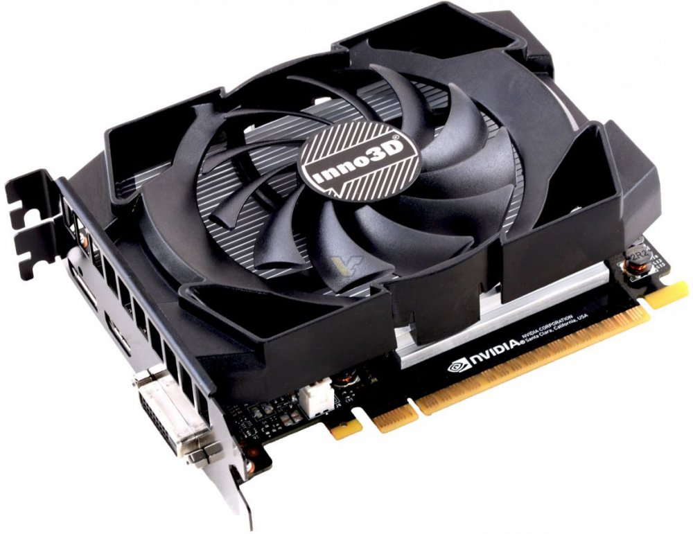 Видеокарта GeForce Inno3D GTX 1050 Ti 1290Mhz PCI-E 3.0 4096Mb 7008Mhz 128 bit DVI HDMI HDCP Compact N105T-1SDV-M5CM