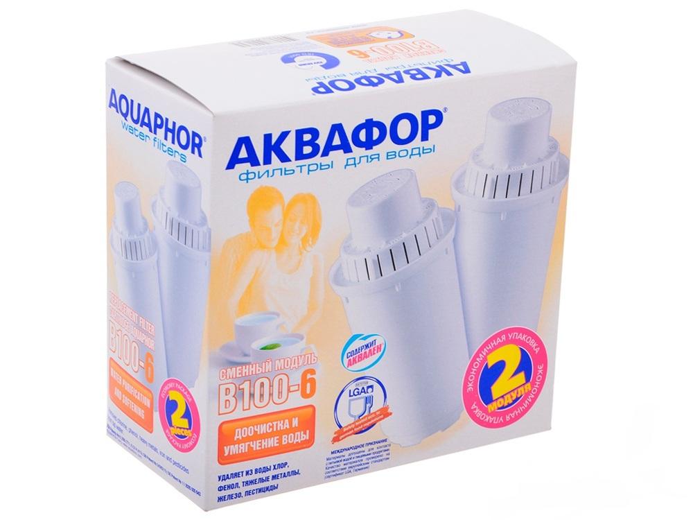 Фильтр для воды Akvafor- В100-6, комплект сменных фильтров В100-6 комплект 2 шт.