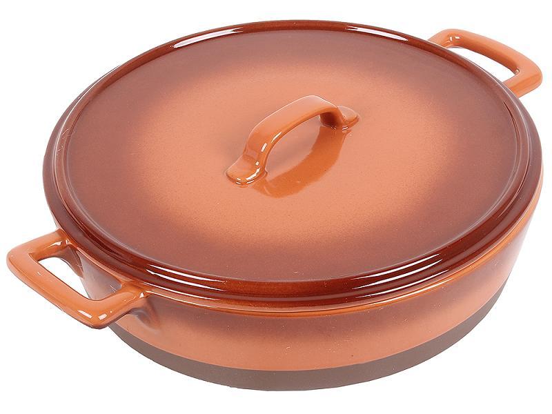 Кастрюля UNIT UCW-4202/36 керамическая, коричневая