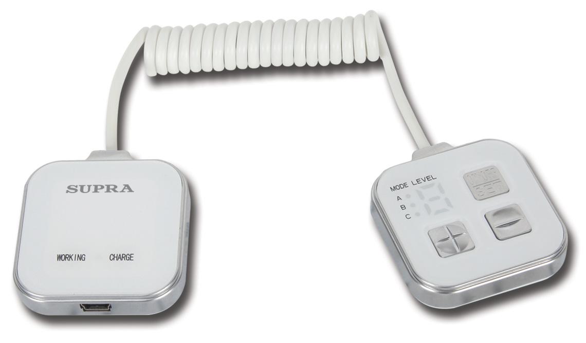 Массажер SUPRA MBS-112 1, белый/серебристый MBS-112 1.