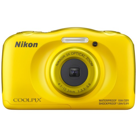 Цифровой фотоаппарат Nikon Coolpix W100, желтый VQA013K001