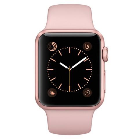 Умные часы apple Watch Series 1 38mm (MNNH2RU/A) розово-золотистые/розовые