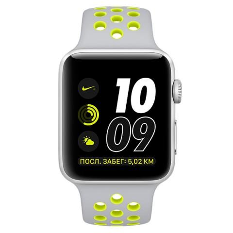 Умные часы apple Watch Nike+ 42mm Space Grey Silver Al/Volt (MNYQ2RU/A)