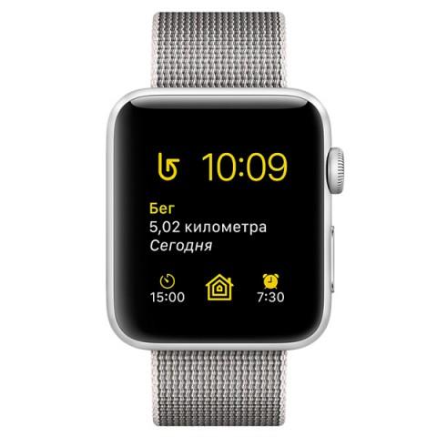 Умные часы apple Watch Series 2 38mm, серебристо-белые MNNX2RU/A