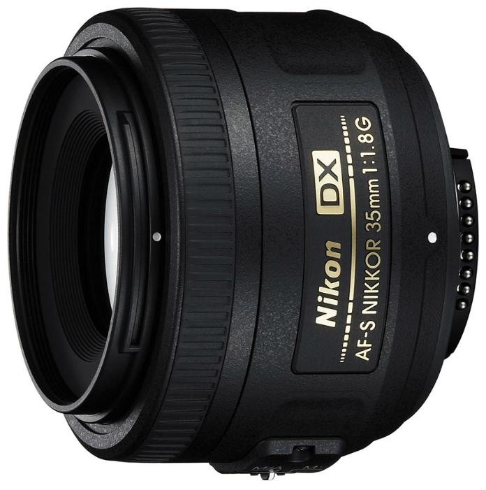 Объектив для фото Nikon 35mm f/1.8G AF-S DX Nikkor JAA132DA