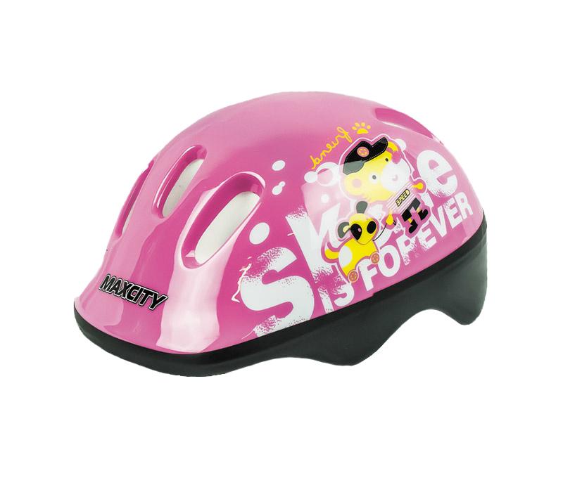 Шлем роликовый MaxCity Baby Teddy р.S, розовая