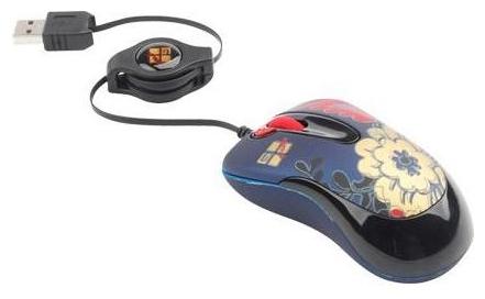 Мышка G-CUBE GLF-61W USB (цветочный орнамент)