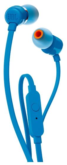 JBL T110BLK, синяя