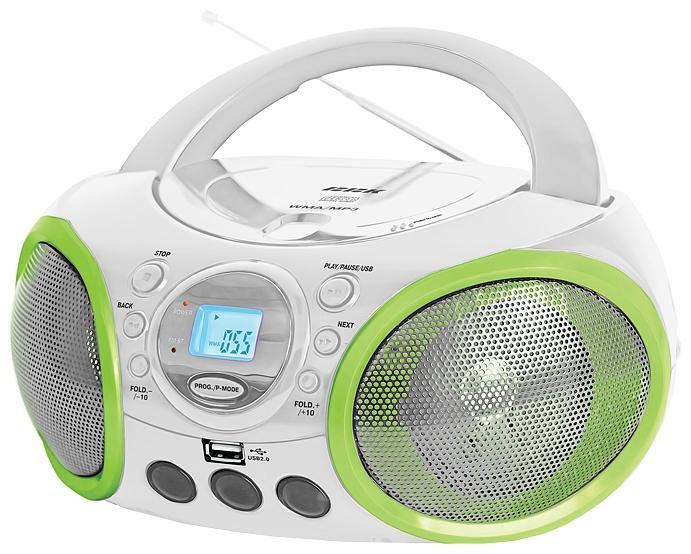 Магнитола BBK BX100U, бело-зеленая