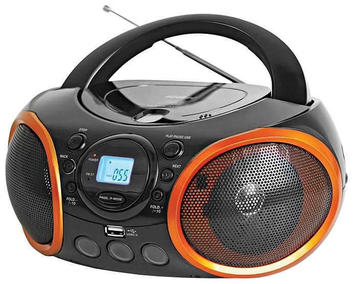 Магнитола BBK BX100U, черно-оранжевая
