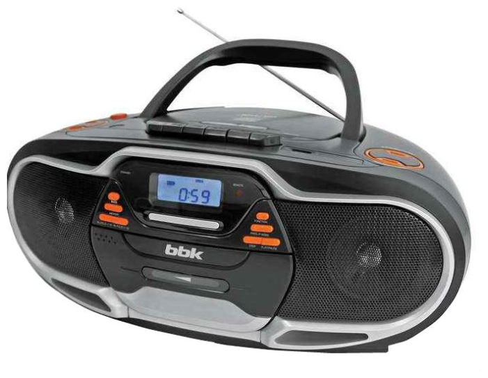 Магнитола BBK BX518UC, черная/металлик