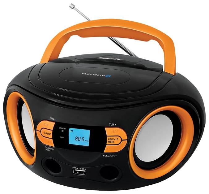Магнитола BBK BS15BT, черно-оранжевая BS15BT черный/оранжевый