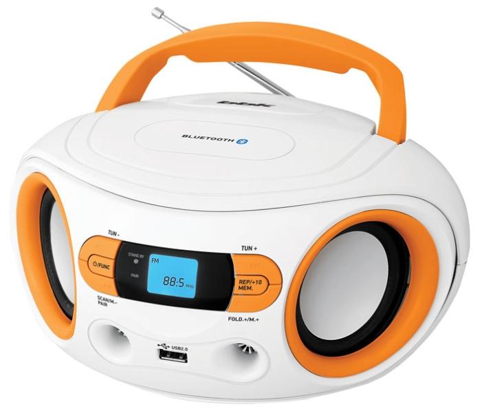 Магнитола BBK BS15BT, бело-оранжевая BS15BT белый/оранжевый