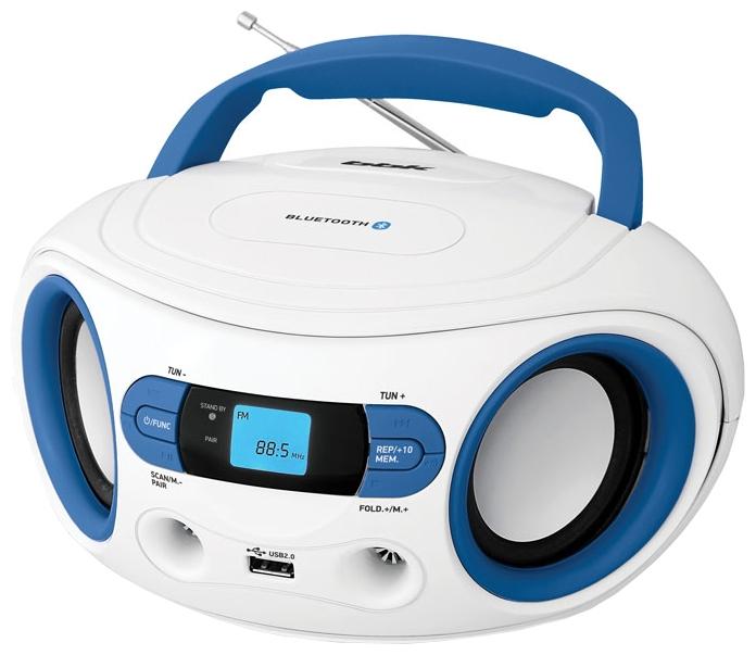 Магнитола BBK BS15BT, бело-голубая BS15BT белый/голубой