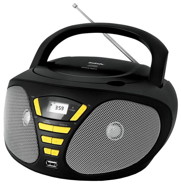 Магнитола BBK BX180U, черно-желтая BX180U черный/желтый