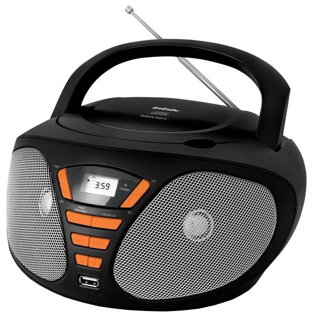 Магнитола BBK BX180U, черно-оранжевая BX180U черный/оранжевый