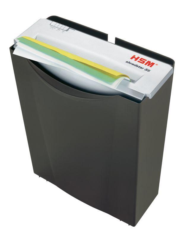 Уничтожитель бумаг HSM Shredstar S5, черный/серебристый 1041.111