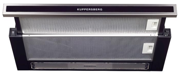 Вытяжка Kuppersberg Slimlux II 60 XGL, черная/серебристая