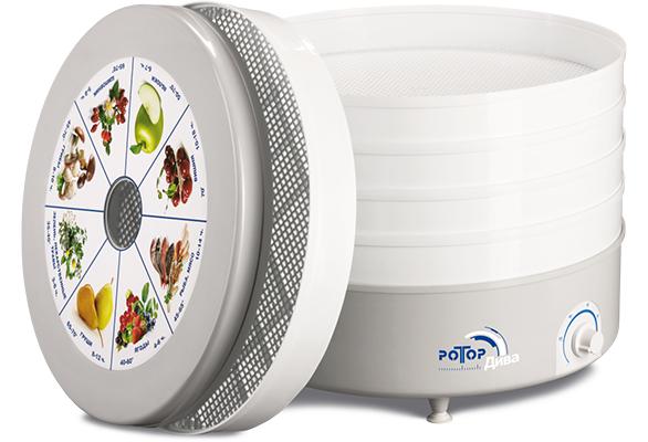 Сушилка для овощей и фруктов Rotor Ротор Дива СШ-07-06, 5 поддонов