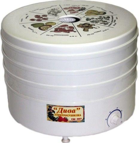 Сушилка для овощей и фруктов Rotor Дива СШ-07-04 (20 л) СШ 007 (007-04)
