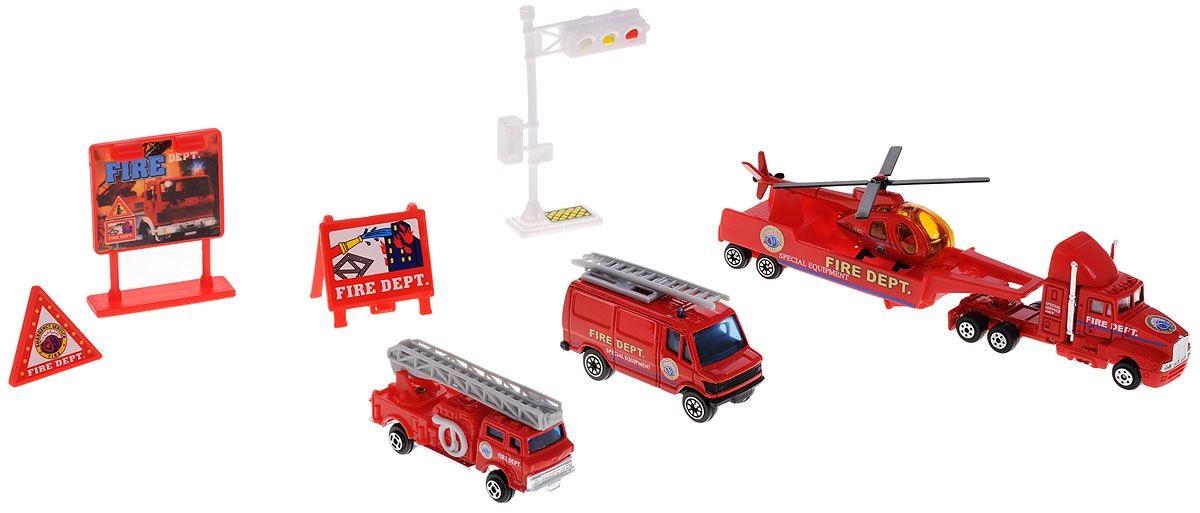 Набор игровой Weltem Welly Служба спасения - пожарная команда, 9 шт.