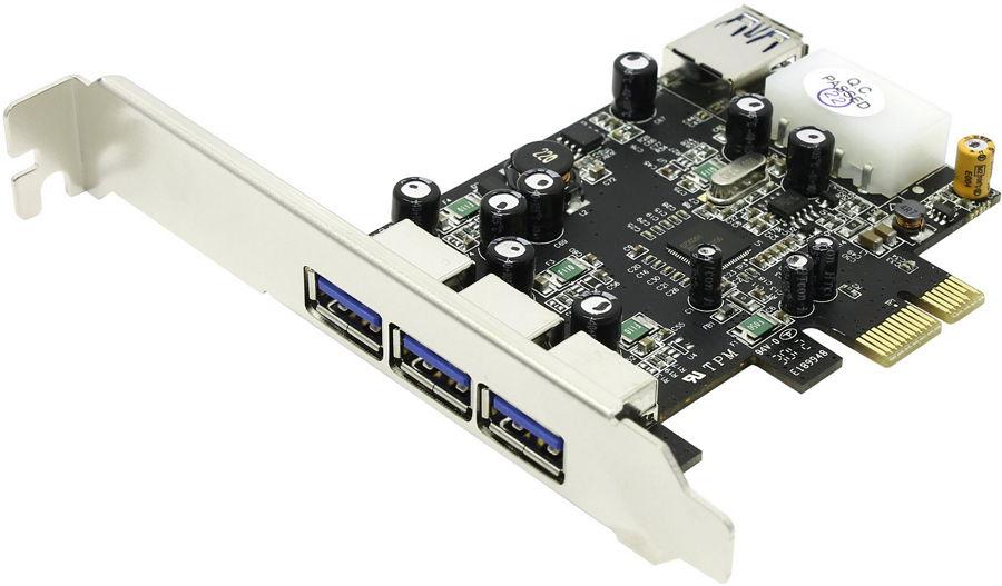 Контроллер ST-Lab U-750 (PCI-E - 4xUSB3.0a, 3 внеш. + 1 внутр.)