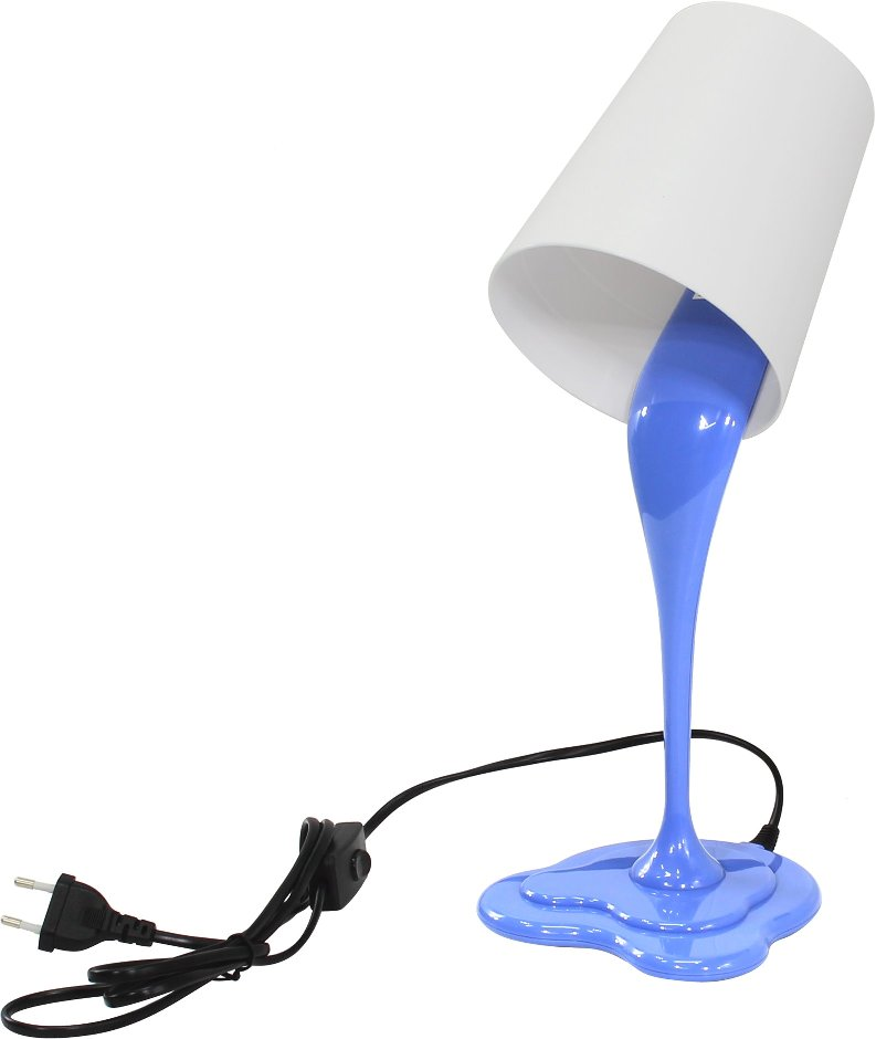 Светильник настольный ERA NE-306-E27-25W-BU голубой